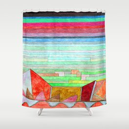 Paul Klee View into Fertile Country Shower Curtain