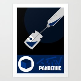 Pandemic - Blue  Art Print