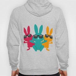 Hipster Hippop Easter Bunny Kids Bunnies Gift Hoody
