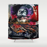 spaceman Shower Curtains featuring Comic Spaceman by creative kids