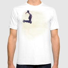Pipe Ride White MEDIUM Mens Fitted Tee