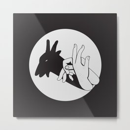 Not A Gang Sign For Goats Metal Print
