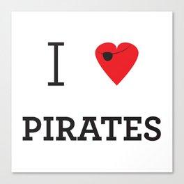 I heart Pirates Canvas Print