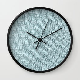 Knitted Blue Wall Clock