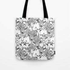 just goats black white Tote Bag