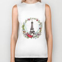 cooking Biker Tanks featuring French Cooking by Grace Anderson