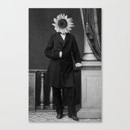 Smart Sunflower.1885. Canvas Print