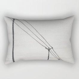 Power Lines Rectangular Pillow