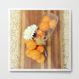 Lacy Clementines Metal Print