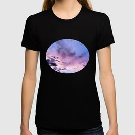 fly up to the blue pink sky T-shirt