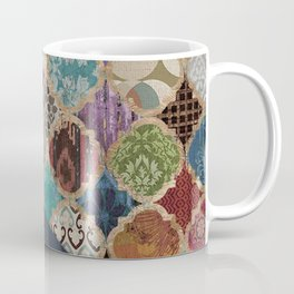 N11 - Vintage Traditional Moroccan Artwork Mixed with Modern Colored Touch. Coffee Mug