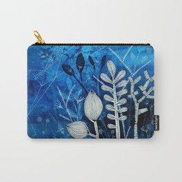 Secret Indigo Garden Carry-All Pouch