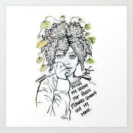 #STUKGIRL SUMMER Art Print