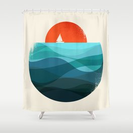 Deep blue ocean Shower Curtain