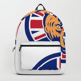 British Bear Union Jack Flag Icon Backpack