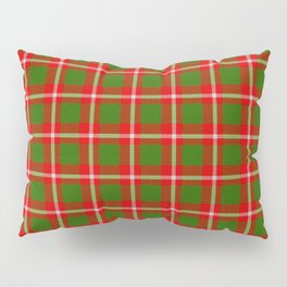 Tartan Style Green and Red Plaid Pillow Sham