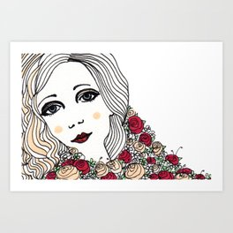 Flora May Art Print