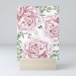Beautiful Pink Roses Garden Mini Art Print