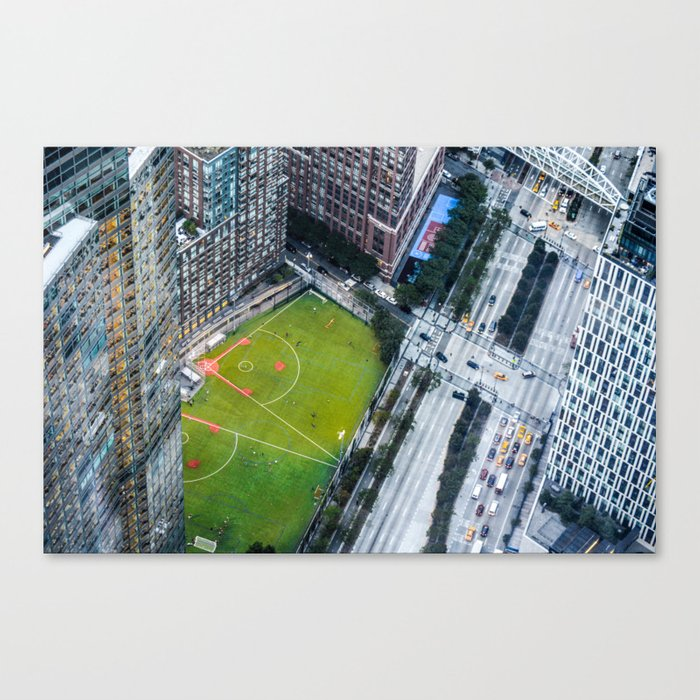 Looking down from Freedom Tower Canvas Print