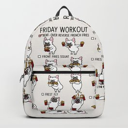 Friday Workout with French Bulldog Backpack