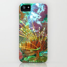 Lionfish and Corral iPhone Case