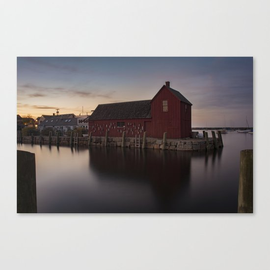 Motif #1 after sunset Canvas Print