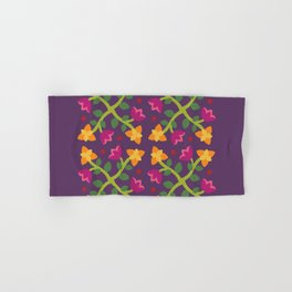 Baltimore Woods Floral Cross Pattern Hand & Bath Towel