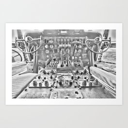 Guppy cockpit Art Print