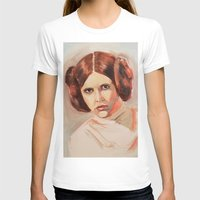 princess leia T-shirts featuring Princess Leia by Ashley Anderson