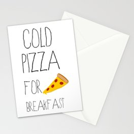 Cold Pizza for Breakfast Stationery Cards