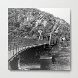 Harpers Ferry Railroad Bridge Metal Print