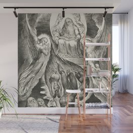 """William Blake """"The Book of Job Pl. 16, Thou hast fulfilled the judgment of the wicked"""" Wall Mural"""