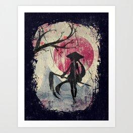 Lady Samurai Art Print
