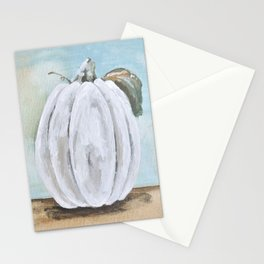 Tall white pumpkin Stationery Cards
