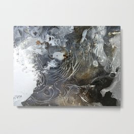 Ice layers on river Metal Print