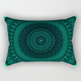 Dark and light green tones mandala Rectangular Pillow