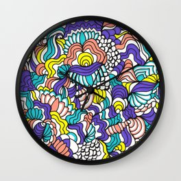 Peach & Violet Wall Clock