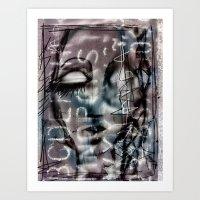 Letter Girl Art Print