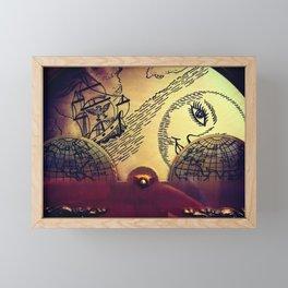 Map of the Clock Framed Mini Art Print