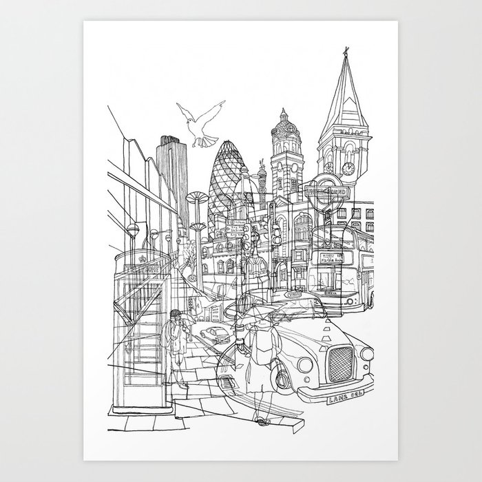 London! Art Print