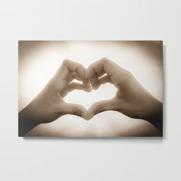 love symbole Metal Print