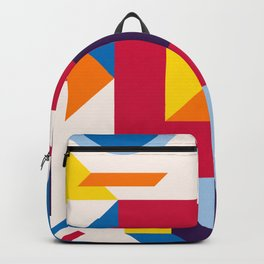 Abstract modern geometric background. Composition 12 Backpack