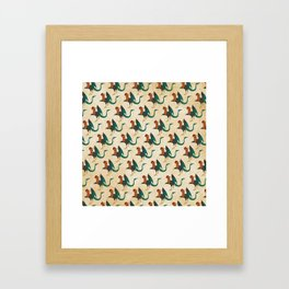Cockatrice Pattern Framed Art Print