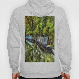 Narrow Boats Little Venice art Hoody