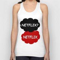 netflix Tank Tops featuring Netflix Netflix by Goes4