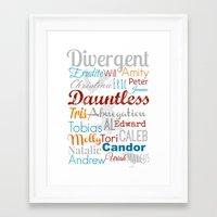 divergent Framed Art Prints featuring Divergent Illustration by A Novel Gift