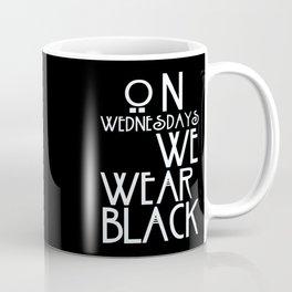 On Wednesdays We Wear Black Coffee Mug
