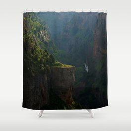 Canyon Mountains Deep Shower Curtain