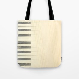 Antique Piano Background Tote Bag