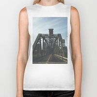 bridge Biker Tanks featuring BRIDGE by URBANEUTICS